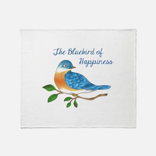 BLUEBIRD OF HAPPINESS Throw Blanket