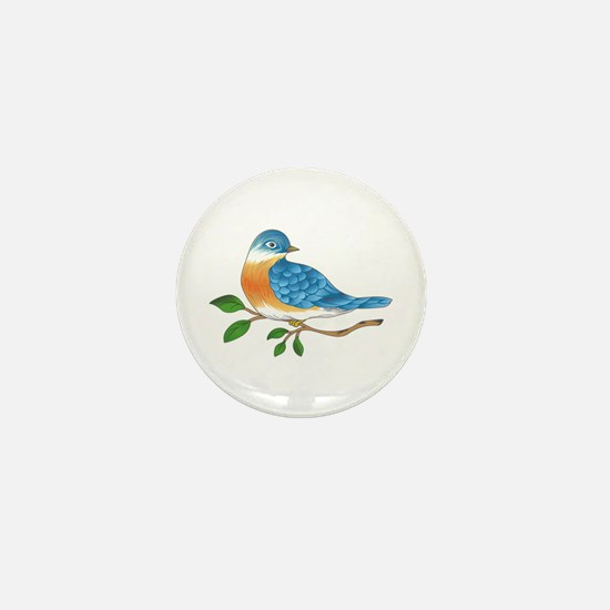 BLUEBIRD ON BRANCH Mini Button