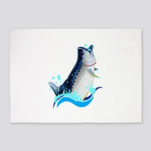 TARPON FISH 5'x7'Area Rug