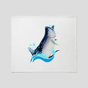 TARPON FISH Throw Blanket