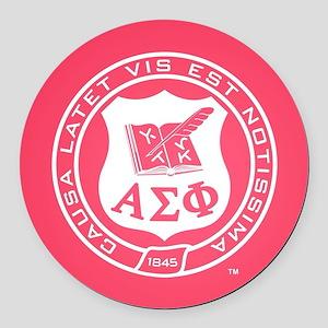 Alpha Sigma Phi Crest Round Car Magnet