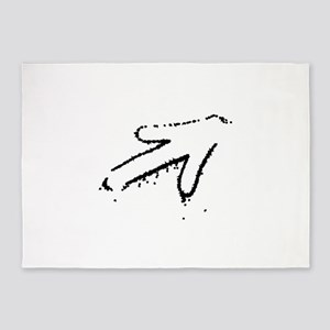 Arrow Graffiti 5'x7'Area Rug
