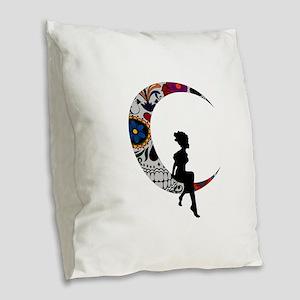 SUGAR LADY Burlap Throw Pillow