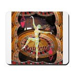 Lady Luck, casino gaming montage Mousepad