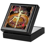 Lady Luck, casino gaming montage Keepsake Box