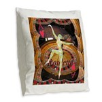 Lady Luck, casino gaming montage Burlap Throw Pill