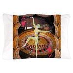 Lady Luck, casino gaming montage Pillow Case