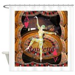 Lady Luck, casino gaming montage Shower Curtain
