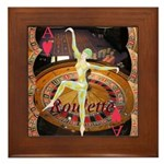 Lady Luck, casino gaming montage Framed Tile