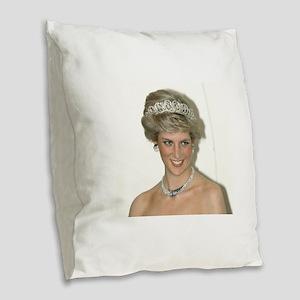 Stunning! HRH Princess Diana Burlap Throw Pillow