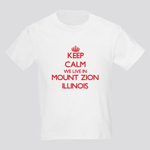 Keep calm we live in Mount Zion Illinois T-Shirt