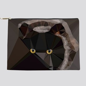 Cat Yellow Eyes Low Poly Triangles Makeup Pouch