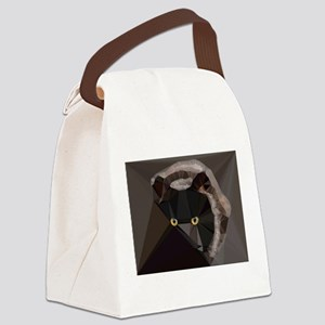 Cat Yellow Eyes Low Poly Triangles Canvas Lunch Ba