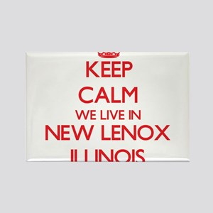Keep calm we live in New Lenox Illinois Magnets