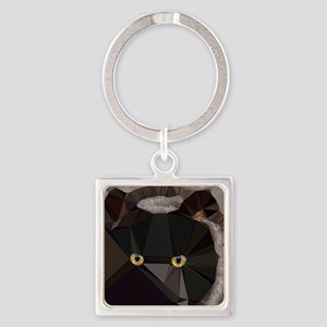 Cat Yellow Eyes Low Poly Triangles Keychains