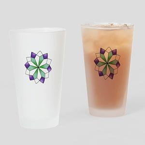 QUILT PATTERN Drinking Glass