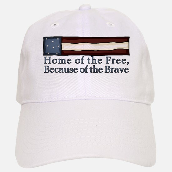 Home of the Free Baseball Baseball Cap