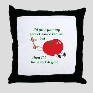 SECRET SAUCE Throw Pillow