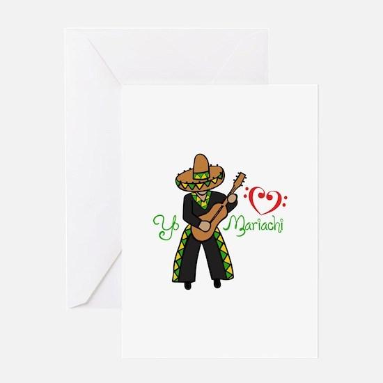 YO HEART MARIACHI Greeting Cards