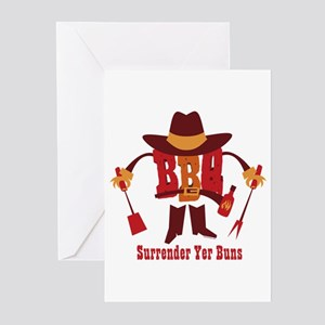 Surrender Yer Buns Greeting Cards (Pk of 10)