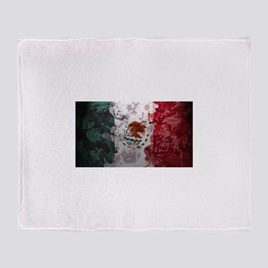Mexican Flag Throw Blanket