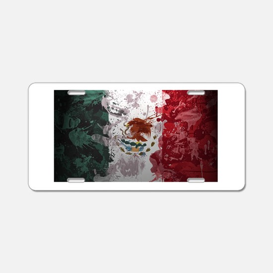 Mexican Flag Aluminum License Plate