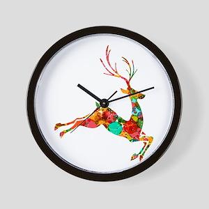 Flying Reindeer Wall Clock