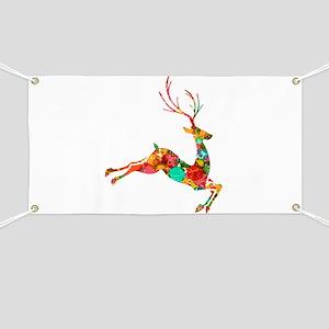 Flying Reindeer Banner