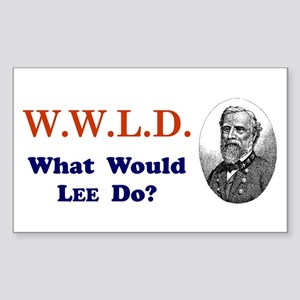 What would LEE Do Rectangle Sticker