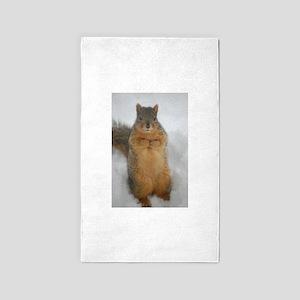 Squirrel Love Area Rug