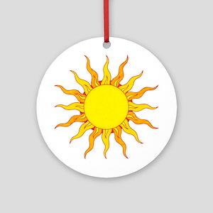 Grunge Sun Ornament (Round)