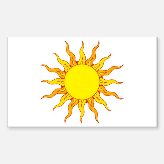 Grunge Sun Decal