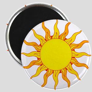 Grunge Sun Magnets
