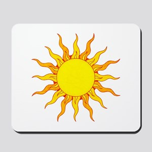 Grunge Sun Mousepad