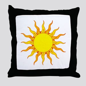 Grunge Sun Throw Pillow