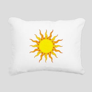 Grunge Sun Rectangular Canvas Pillow