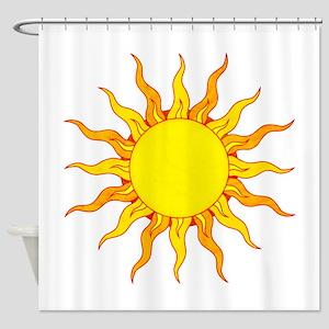 Grunge Sun Shower Curtain