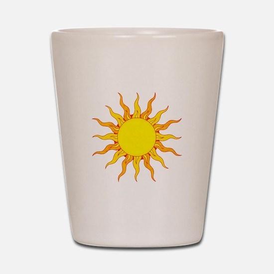Grunge Sun Shot Glass