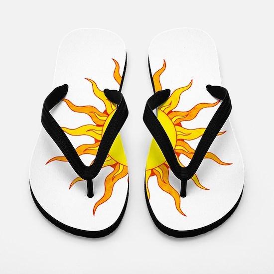 Grunge Sun Flip Flops