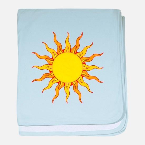Grunge Sun baby blanket