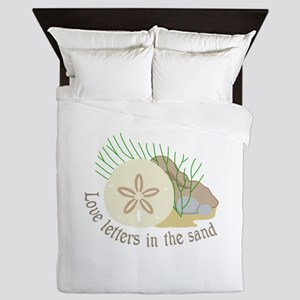 LOVE LETTERS IN THE SAND Queen Duvet