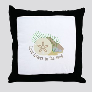 LOVE LETTERS IN THE SAND Throw Pillow