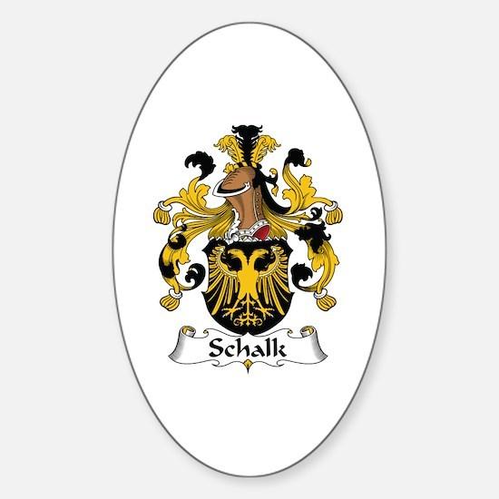 Schalk Oval Decal
