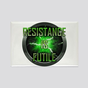 Resistance is Futile Rectangle Magnet