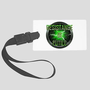 Resistance is Futile Large Luggage Tag