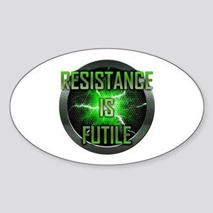 Resistance is Futile Oval Sticker