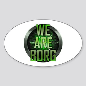 We Are Borg Oval Sticker