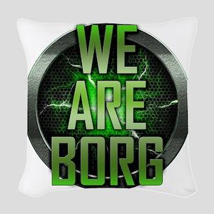 We Are Borg Woven Throw Pillow