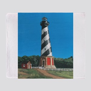 Cape Hatteras Lighthouse Throw Blanket