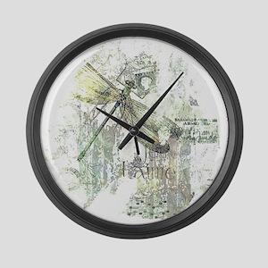 Je Taime' Large Wall Clock